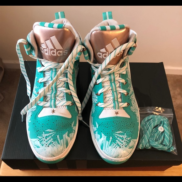 check out 5cfd7 974d8 adidas Other - Adidas D Rose 6 S85531 Boost Hyper Green White 11